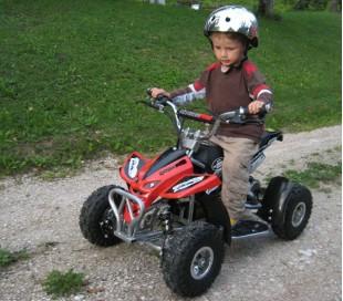 """Mini Quad UNNO 50cc 2t con tirador Ruedas 4"""""""